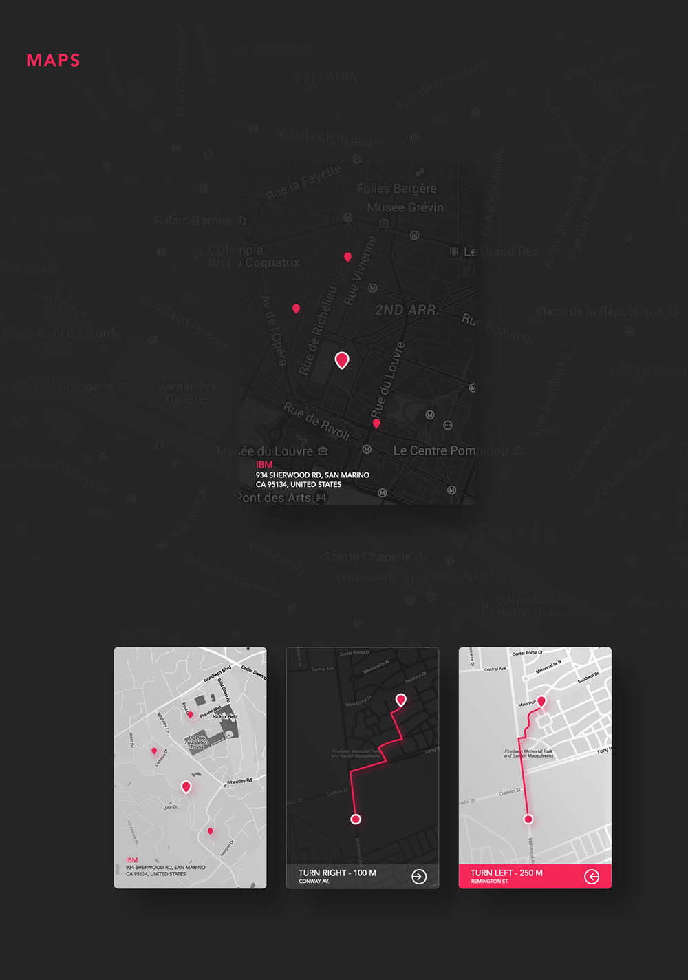 Free UI Kit PSD Maps