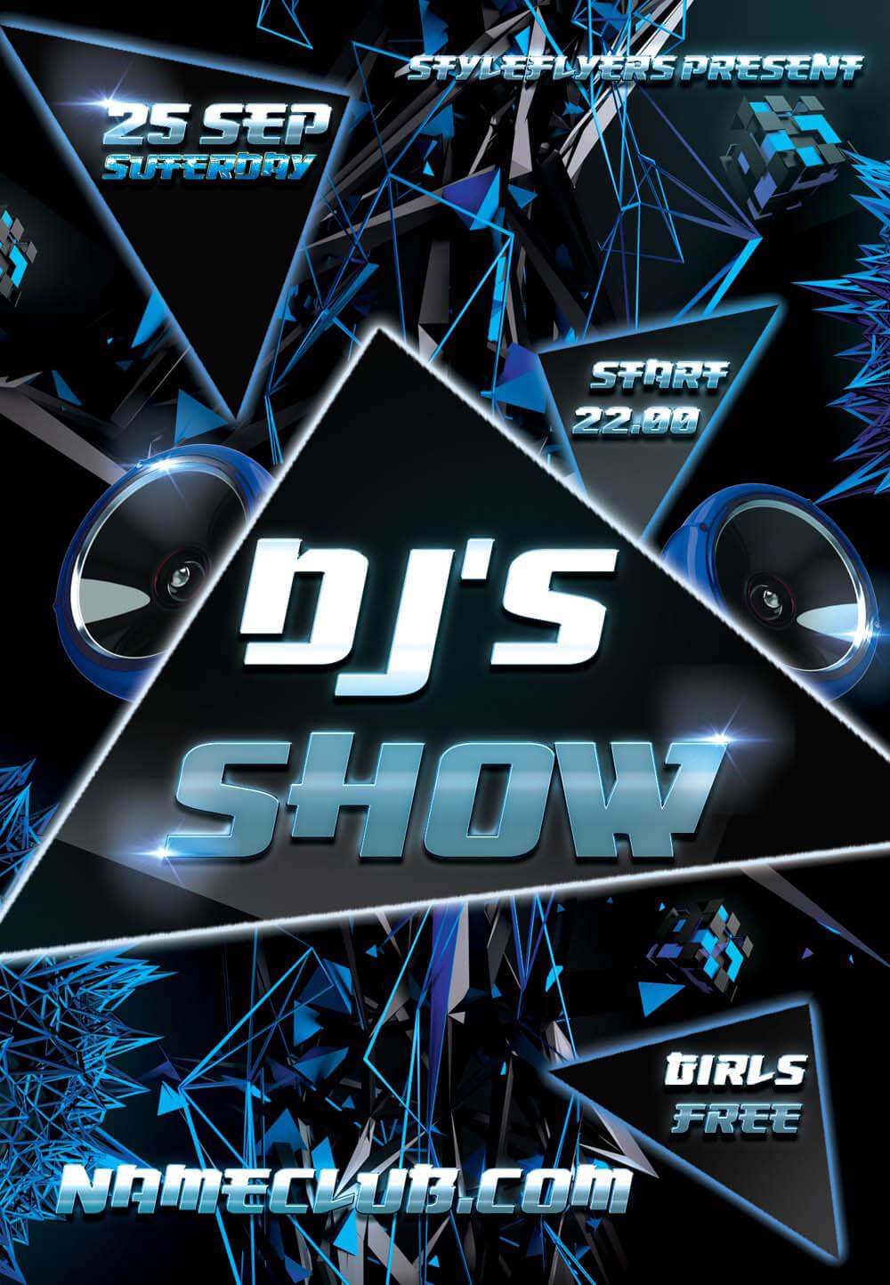 Dj's Show PSD Flyer Template