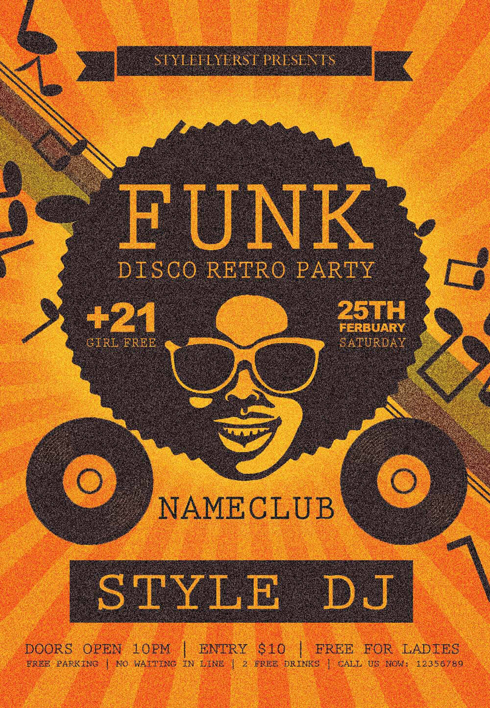 Funk PSD Flyer Template