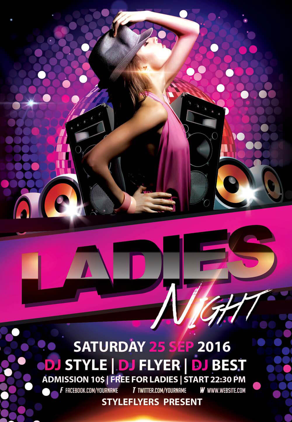 Ladies' Night PSD Flyer Template