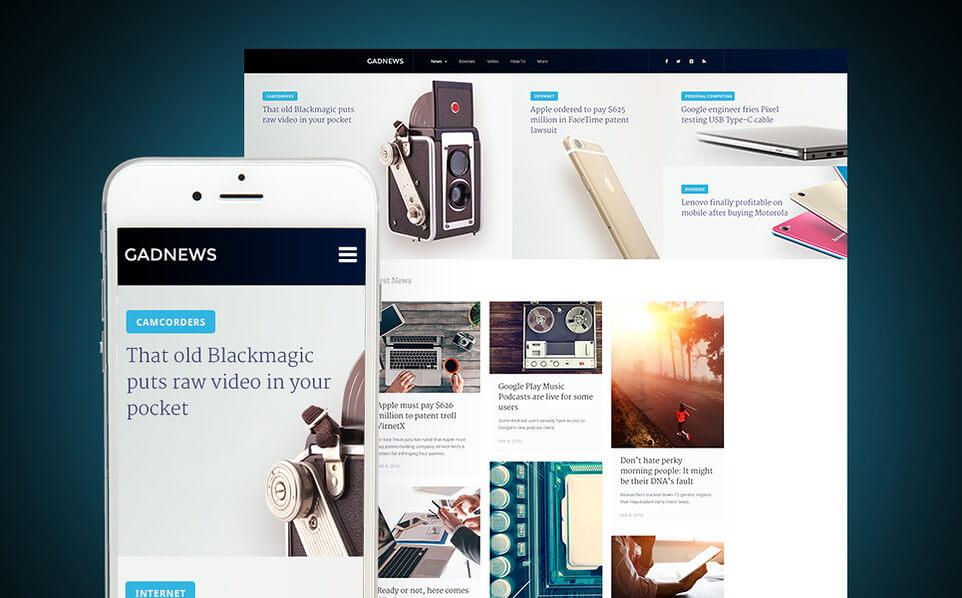 Gadnews - Technology Review WordPress Theme