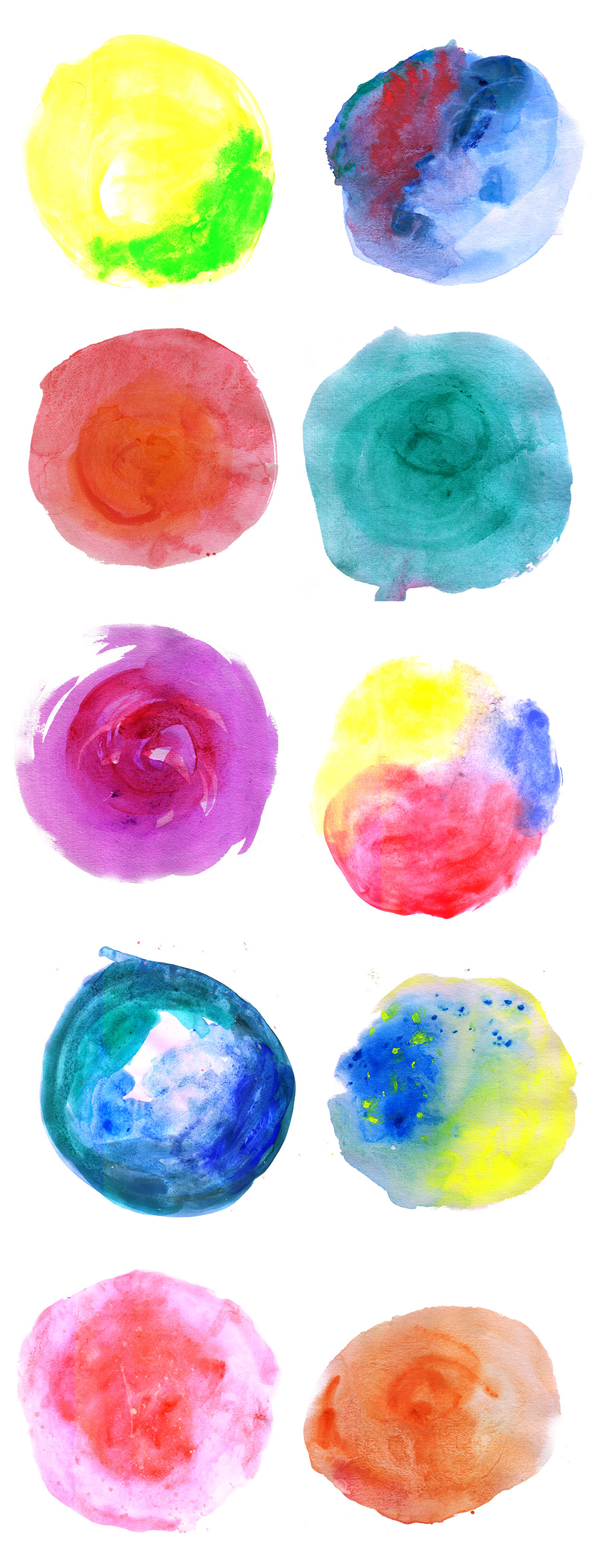 Watercolor Circle Textures