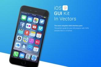 iOS 9 GUI Vector kit