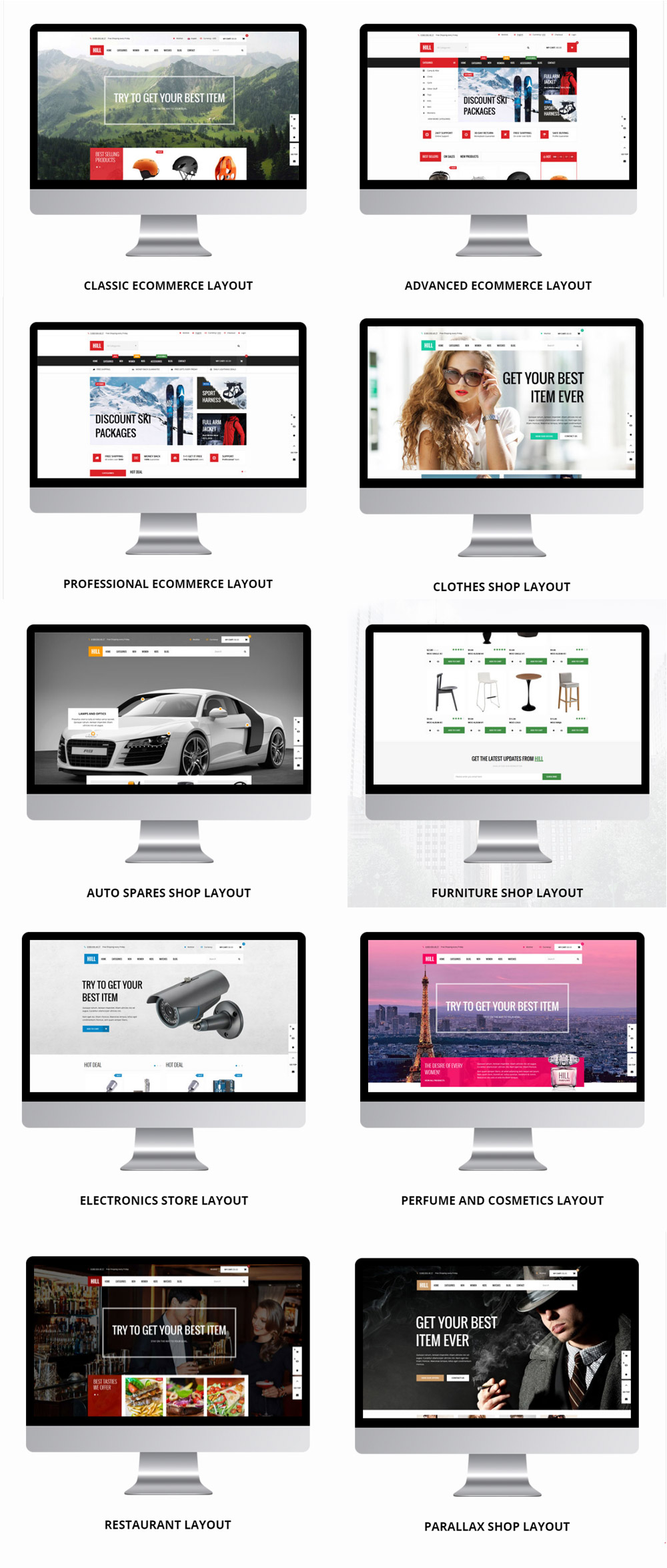 HILL: WP Woocommerce Theme Layouts