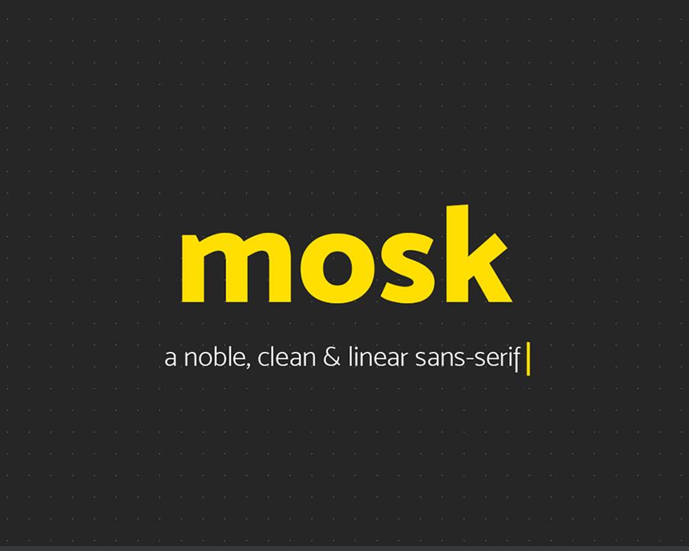 Mosk Font