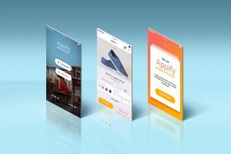 App Screens Mockup PSD