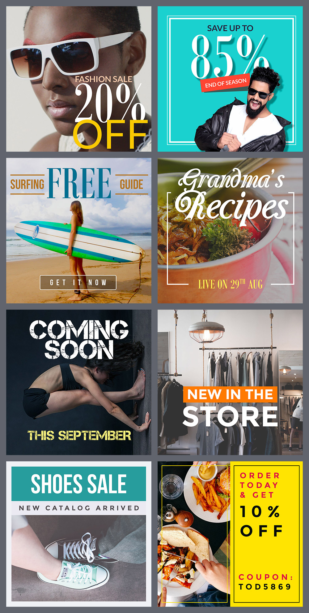 Free Instagram Banners Templates