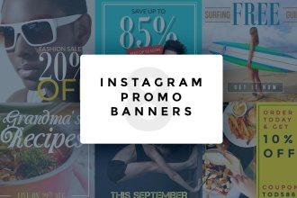 Instagram Promo Banner PSD Templates