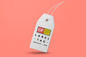Label Tag Mockup PSD