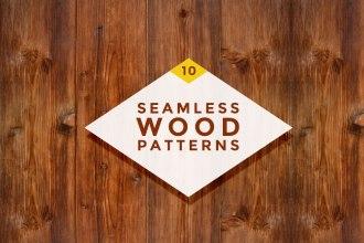 10 Seamless Wood Patterns