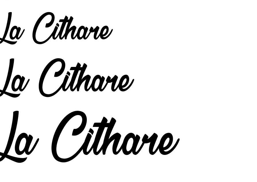 La Cithare Font