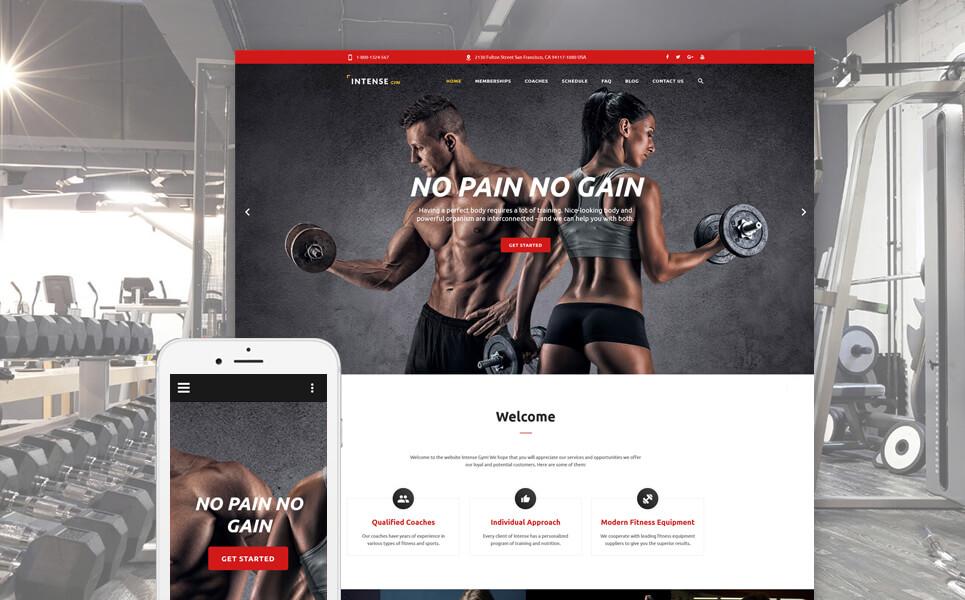 Gym Equipment Website Template