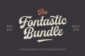 The Fontastic Bundle: 27 Fantastic Fonts – 99% Off