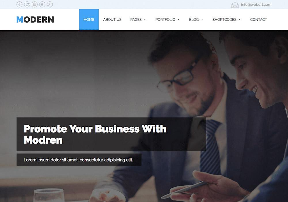 Modern WordPress Theme
