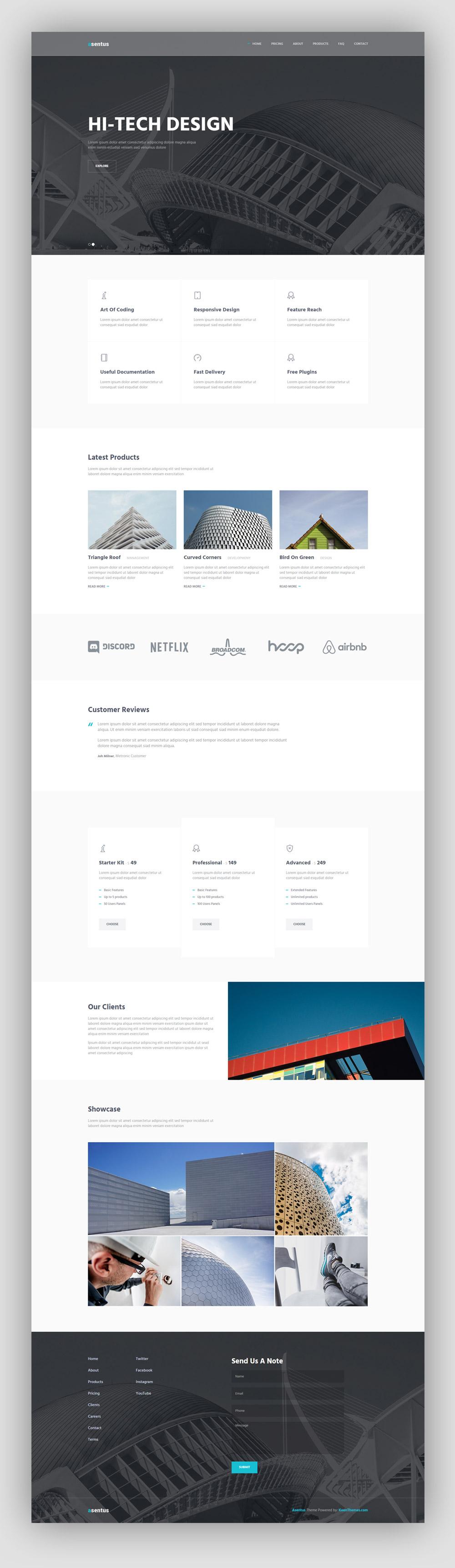Asentus Bottstrap HTML Template