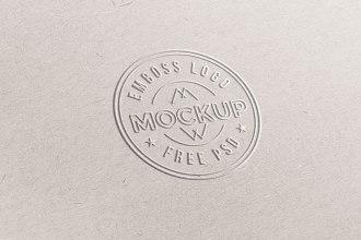 Free Emboss Logo Mockup