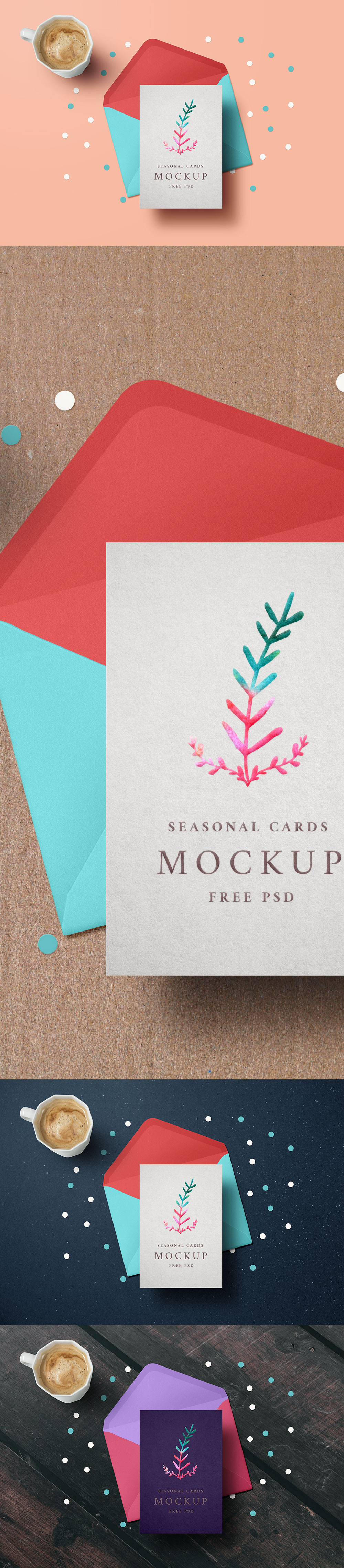 Holiday Greeting Card Mockup PSD