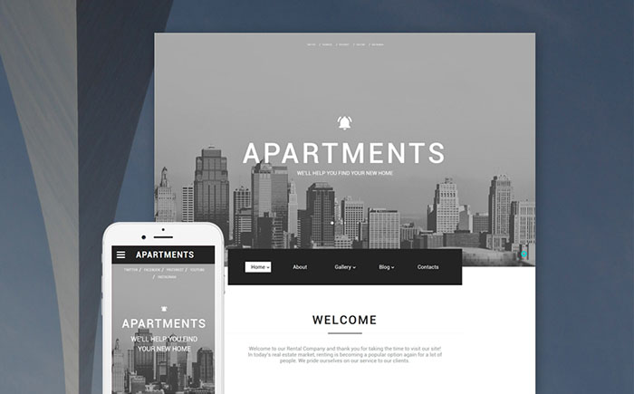 Real Estate Bootstrap Template