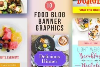 Food Blog Banner Graphics
