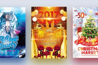 19 Free And Premium Flyers For Your Winter Event