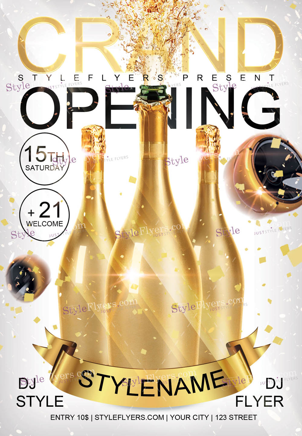 Grand Opening PSD Flyer