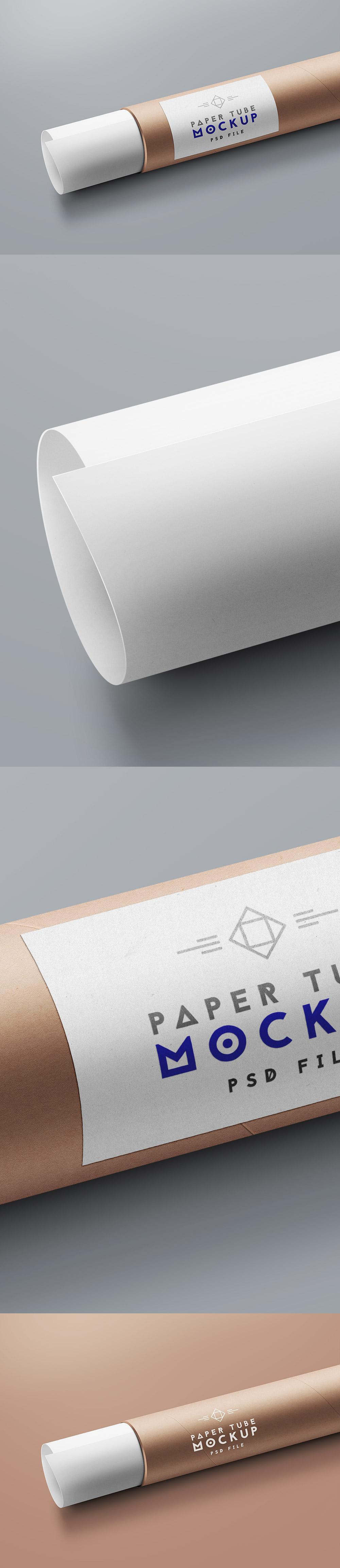 Cardboard Paper Tube Mockkup