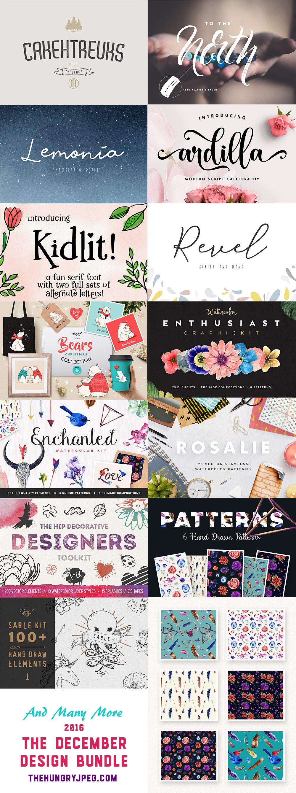 December Fonts Design Bundle
