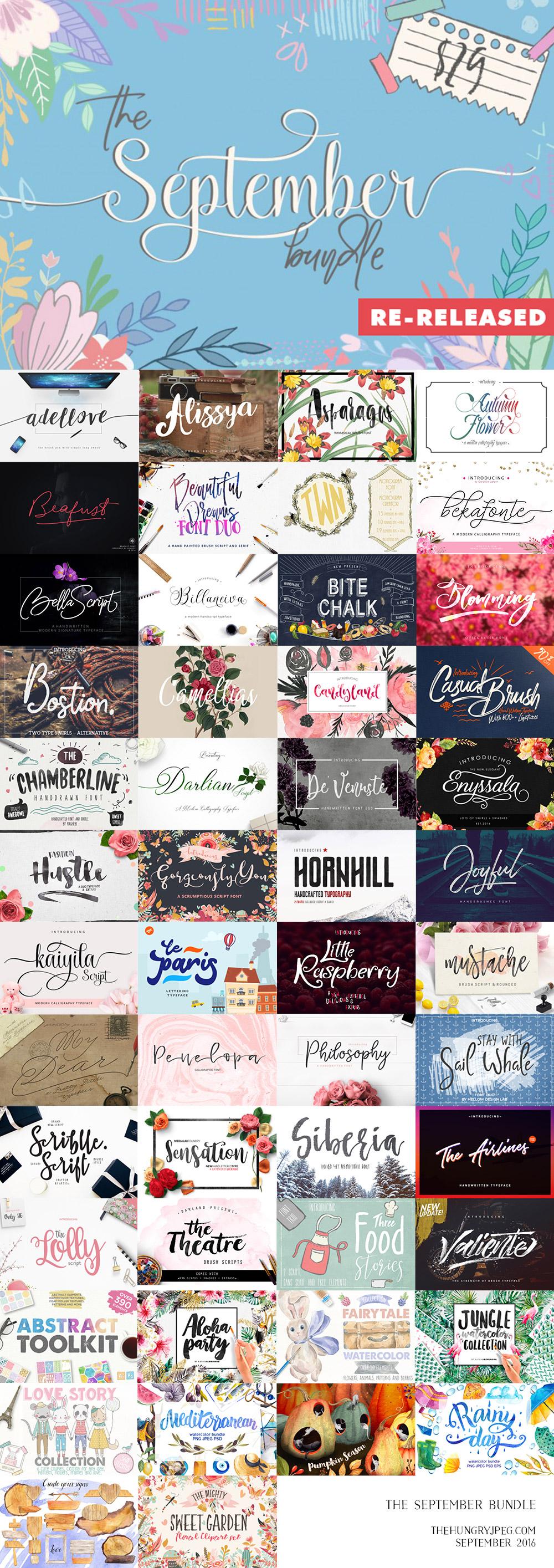 The September Fonts & Graphics Bundle