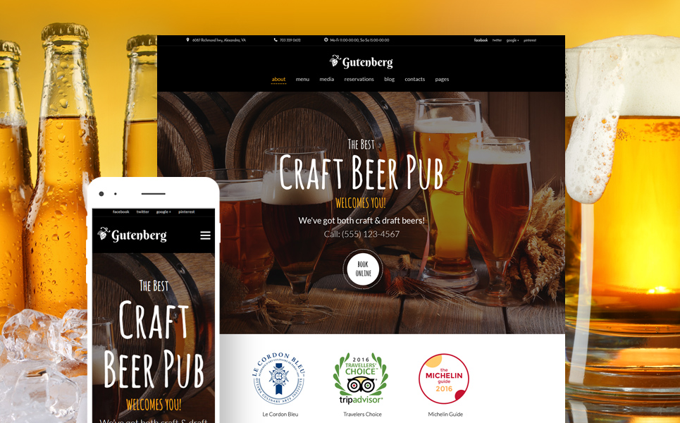 GutenBerg - Beer Pub and Brewery WordPress Theme