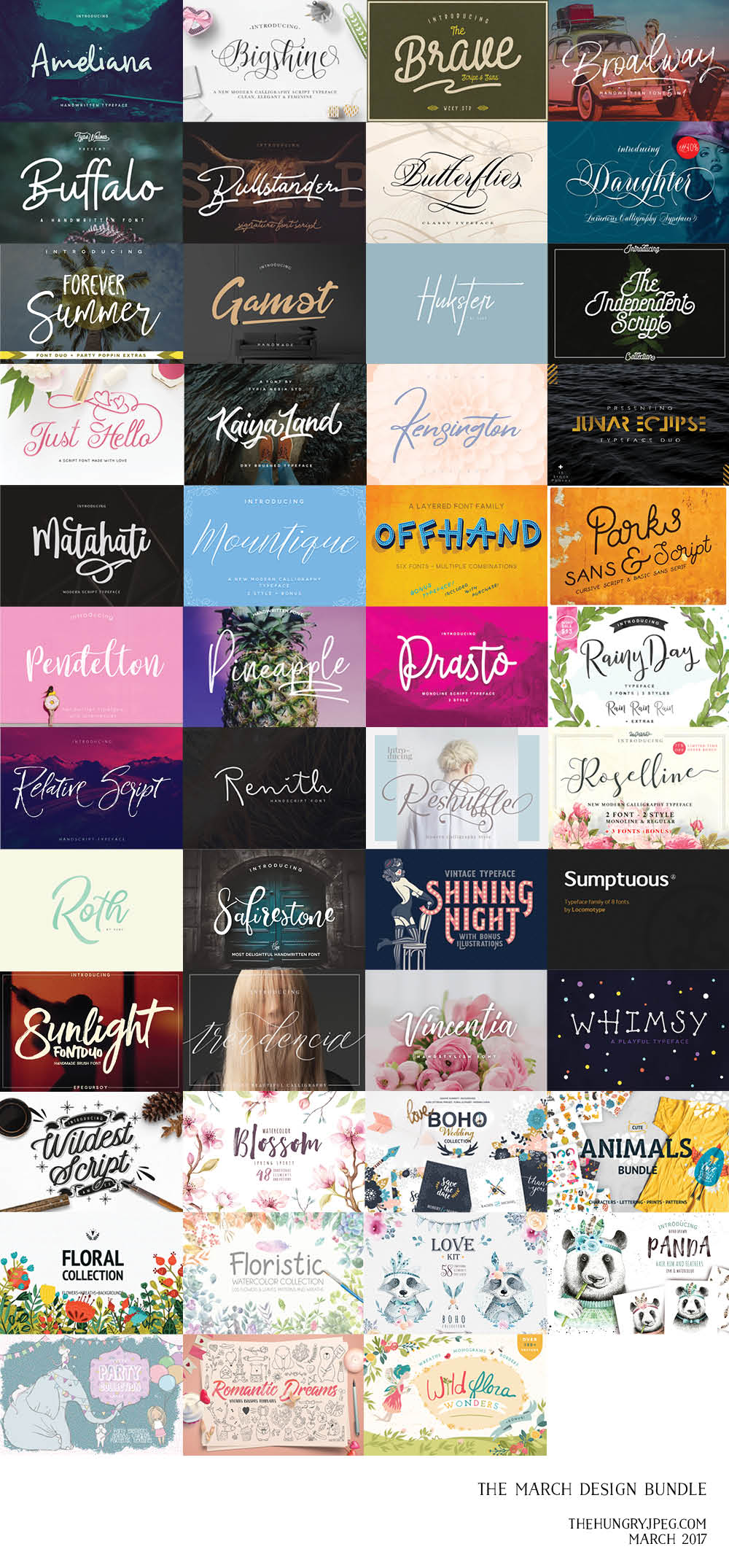 March Fonts & Graphics Bundle