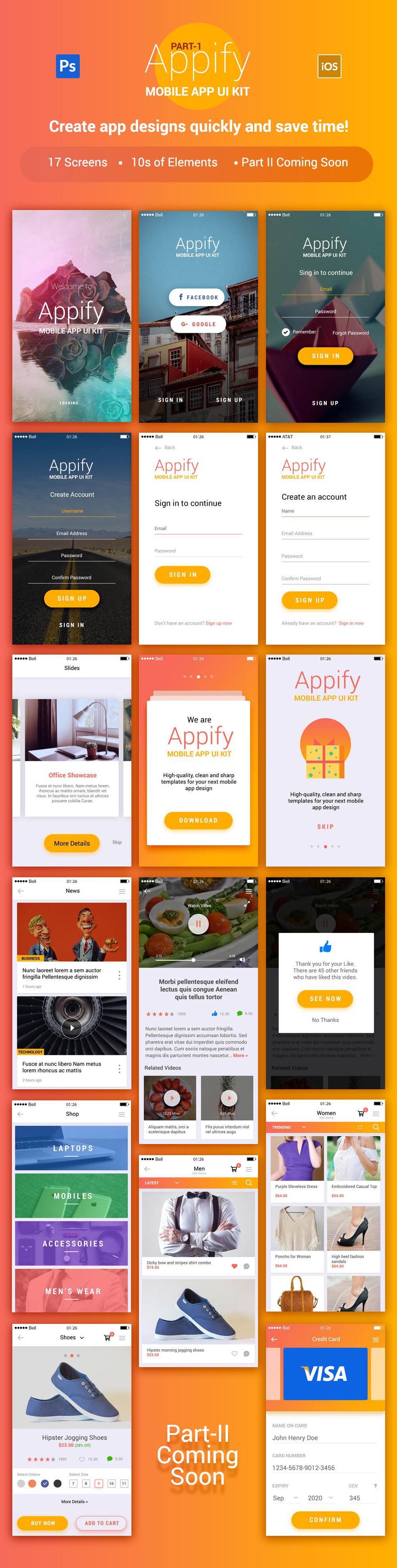 Appify Mobile App UI Kit