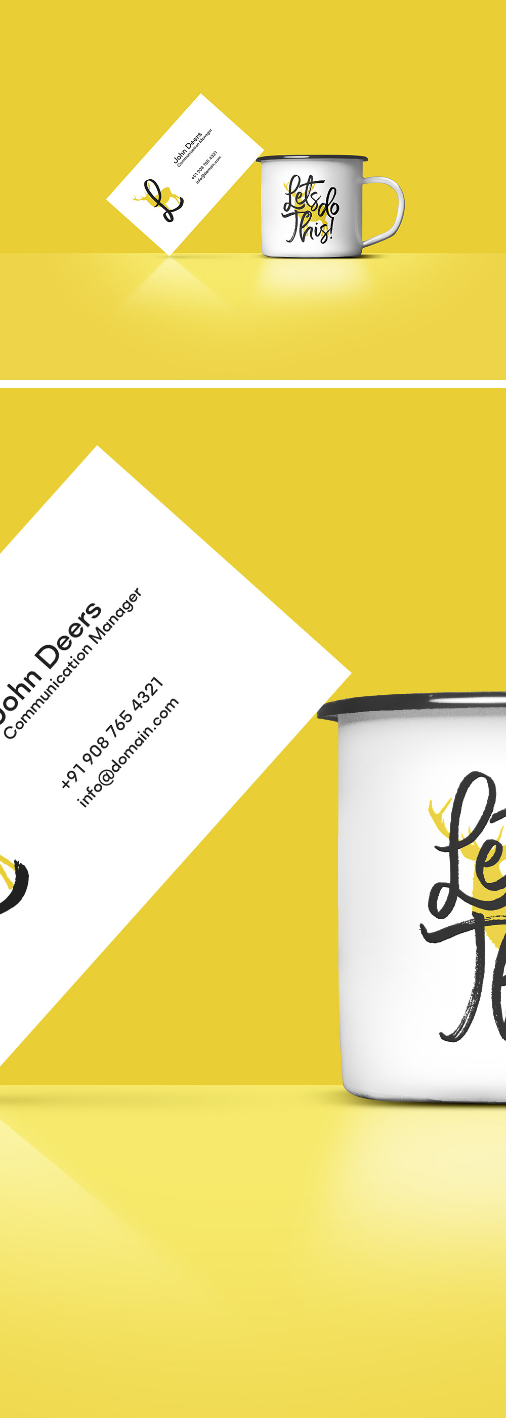 Coffee Cup & Business Card Mockup