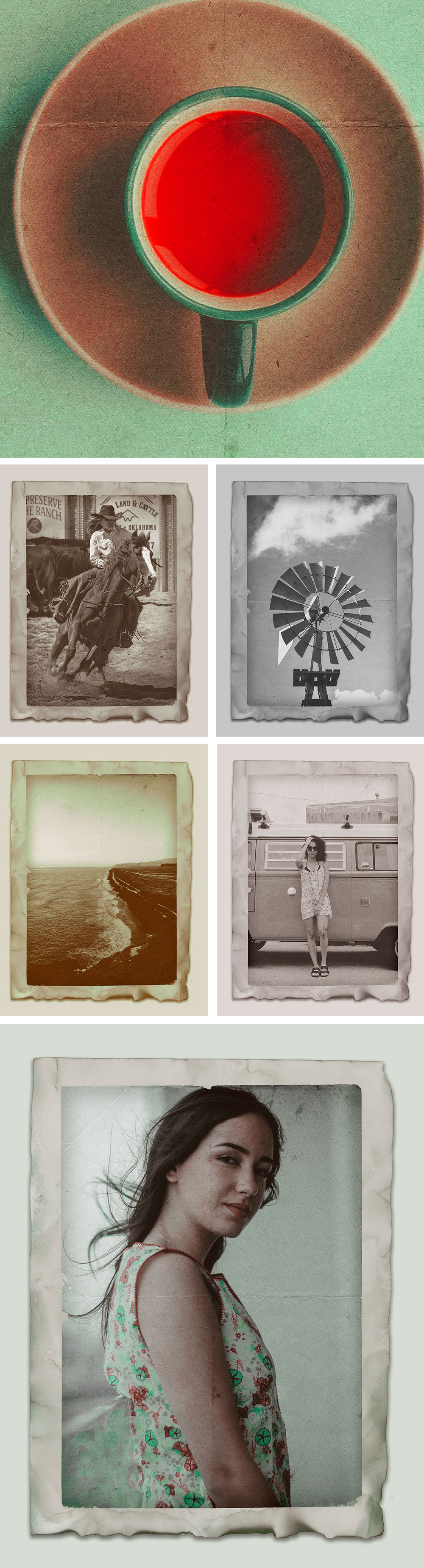 Vintage Photo Effects PSD