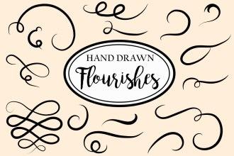 Hand-drawn Vector Decorative Flourishes