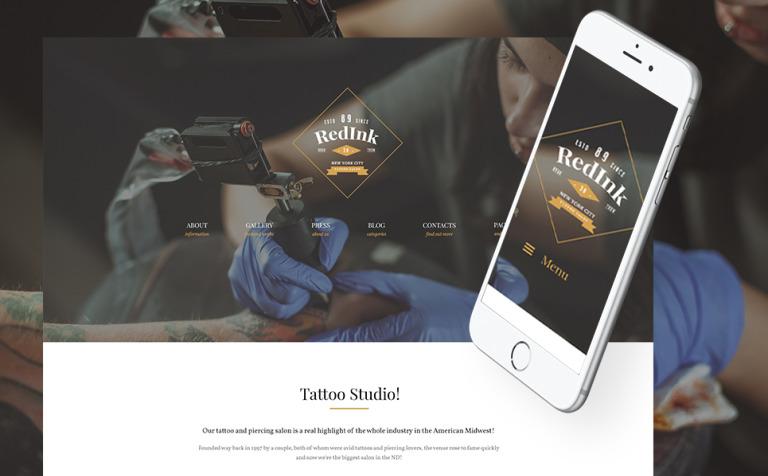 Tattoo Salon WordPress Theme