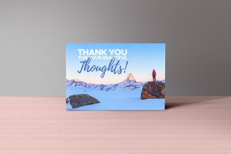 Free Thank You Notes PSD Mockup