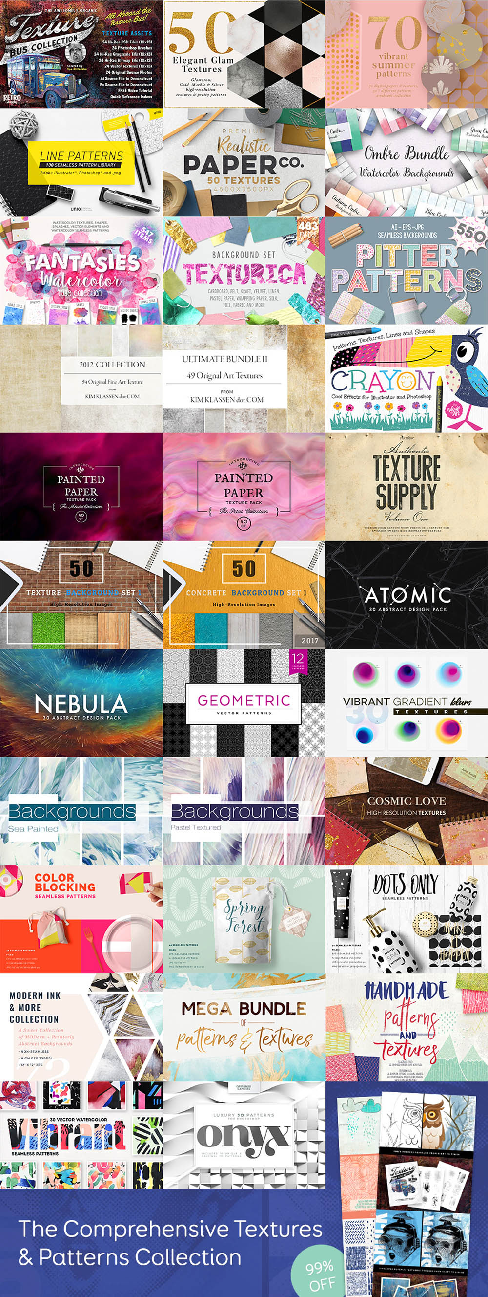 Textures & Patterns Bundle