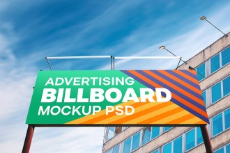 Free Outdoor Billboard PSD Mockup