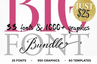 Blessed Print Font & Graphics Bundle