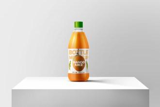 Juice Bottle Mockup PSD