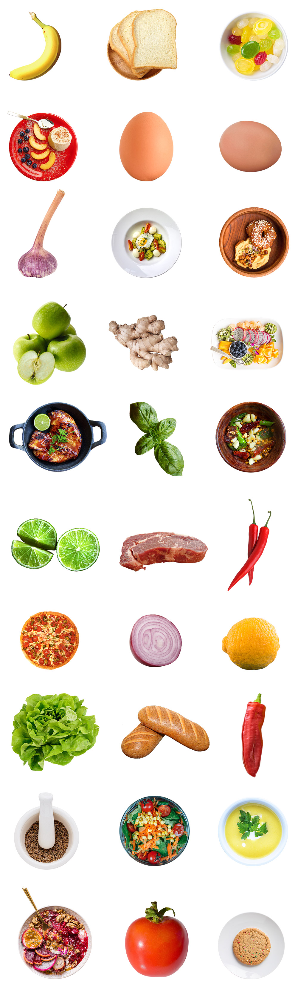 Isolated Food Images