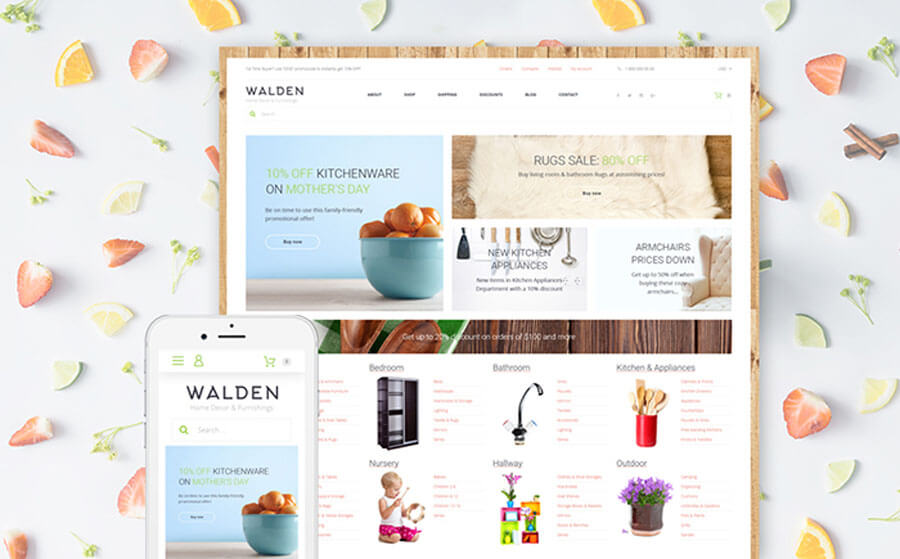 Clear Multiuse Online Supermarket WooCommerce Template