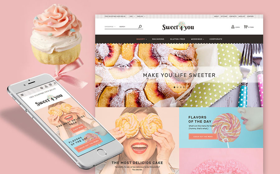 Sweet Shop PrestaShop Theme