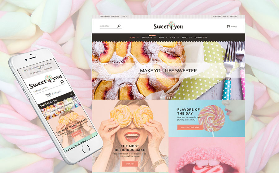 Sweet Shop Responsive Shopify Theme