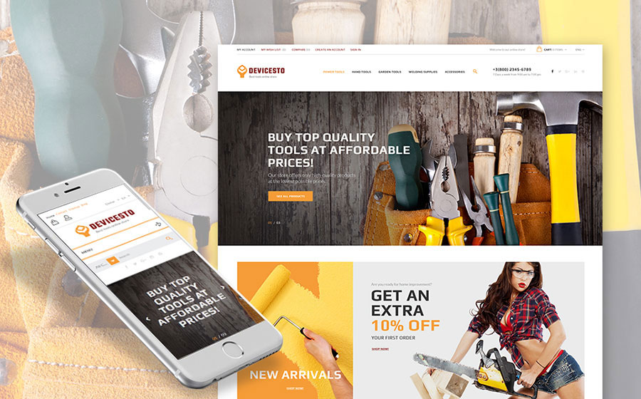 Power Tools PrestaShop Theme