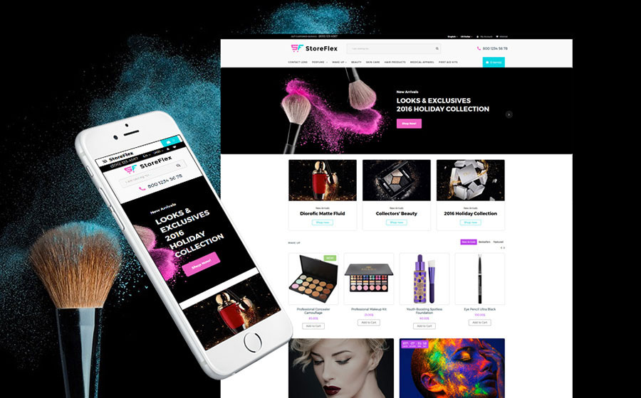 StoreFlex - Fashion & Beauty Store OpenCart Template