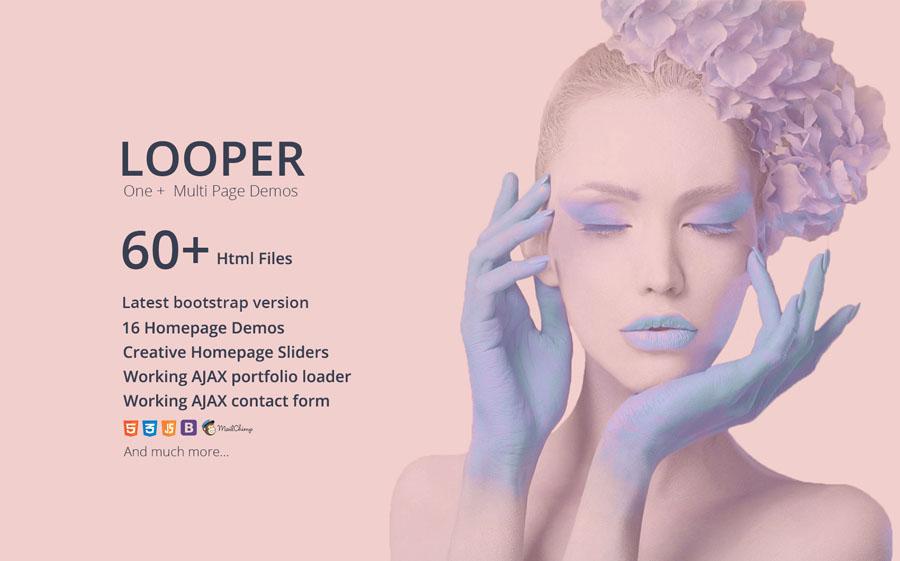 Looper - Multipurpose One/Multi Page Template Website Template