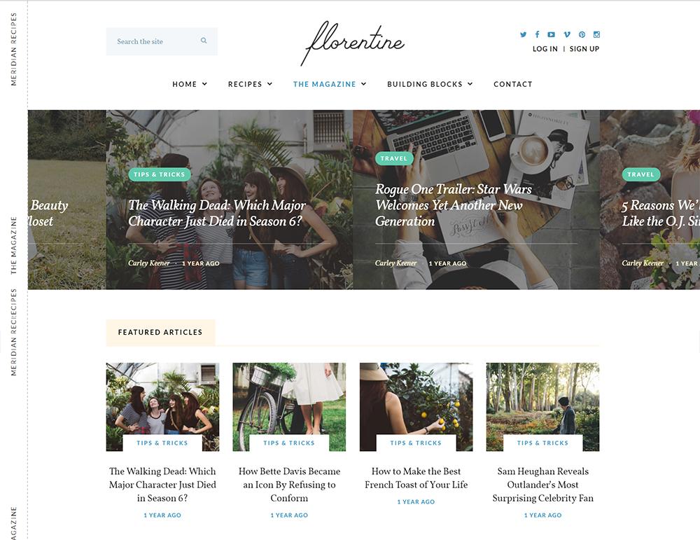 Florentine WordPress Theme