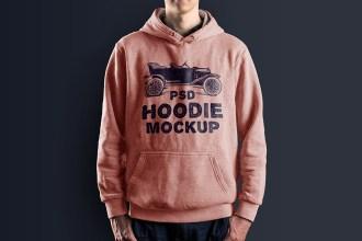 Male Hoodie Mockup PSD