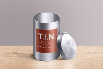 Packaging Tin Container Mockup